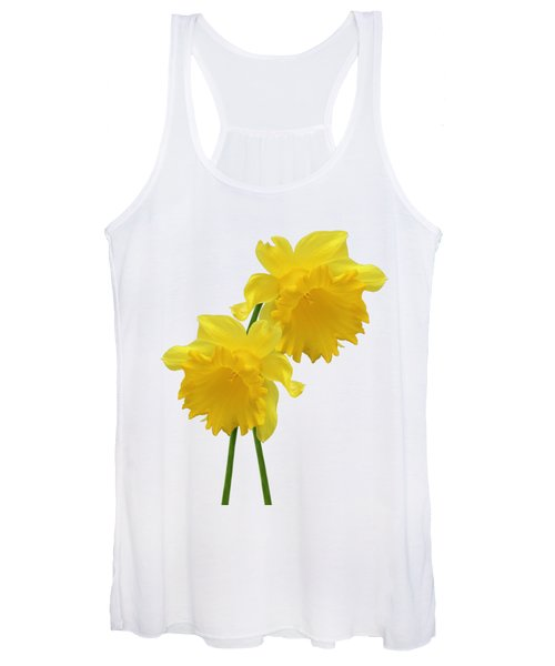 Daffodils On White Women's Tank Top