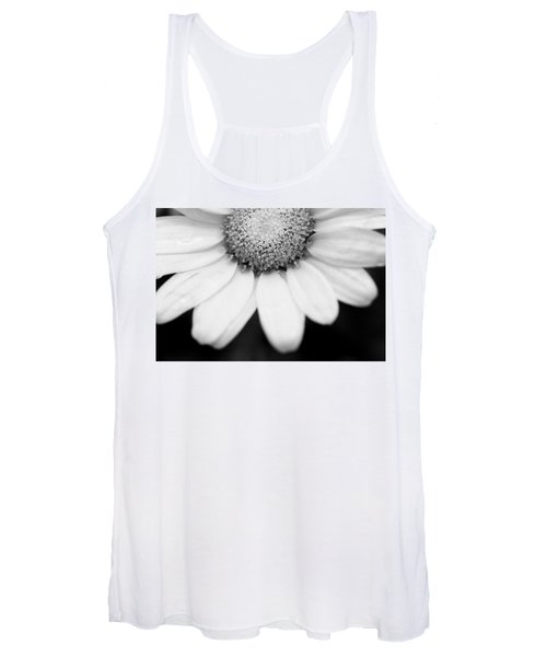 Daisy Smile - Black And White Women's Tank Top