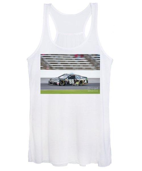 Dale Earnhardt Jr Running Hard At Texas Motor Speedway Women's Tank Top