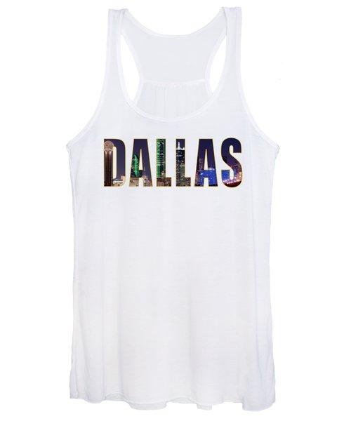 Dallas Letters Transparency 013018 Women's Tank Top