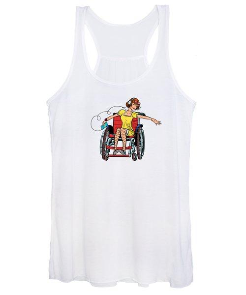 Dancing Girl In A Wheelchair Women's Tank Top
