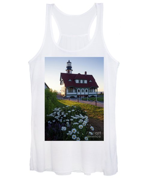 Dawn At Portland Head Light, Cape Elizabeth, Maine  -08614 Women's Tank Top
