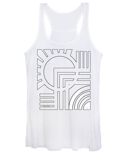 Deco Design White Women's Tank Top