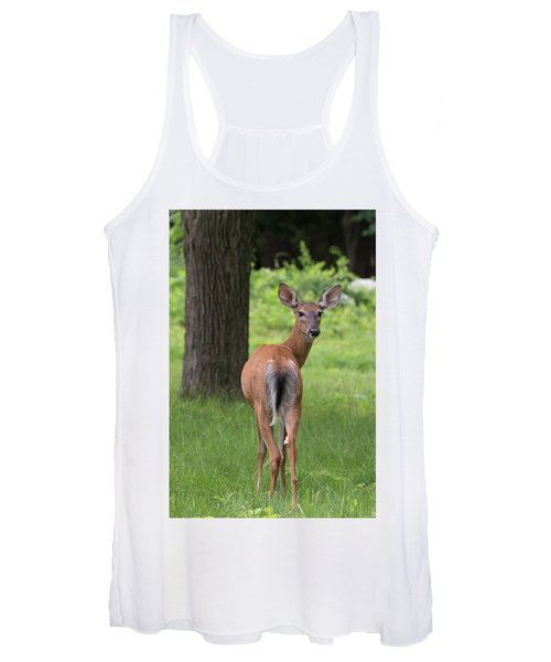 Deer Looking Back Women's Tank Top