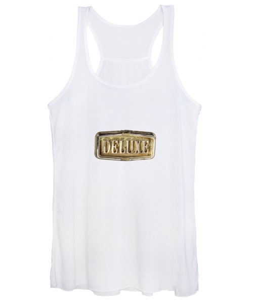 Deluxe Chrome Emblem Women's Tank Top