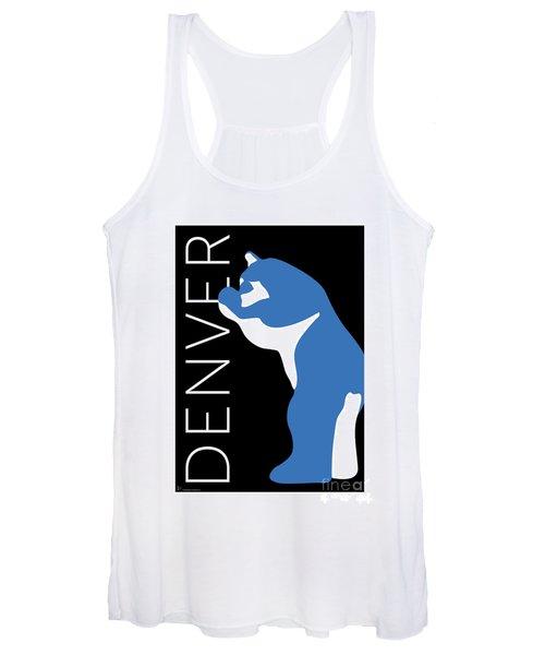 Denver Blue Bear/black Women's Tank Top