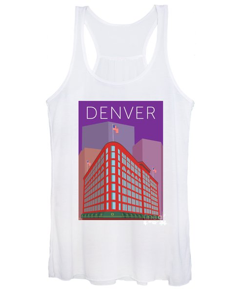 Denver Brown Palace/purple Women's Tank Top