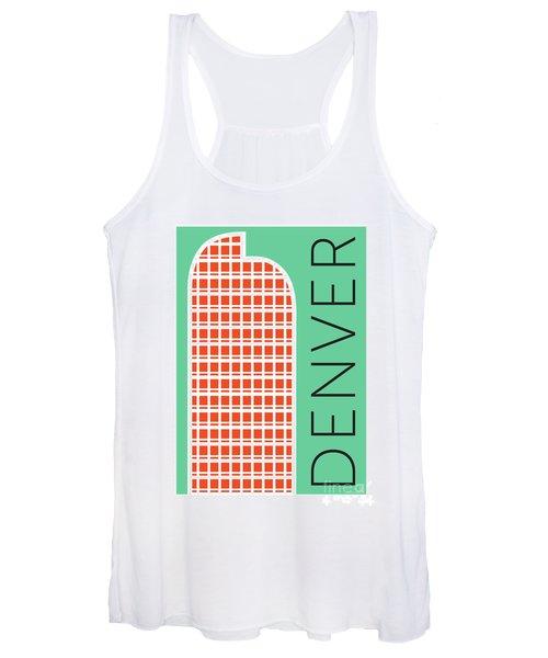 Denver Cash Register Bldg/aqua Women's Tank Top