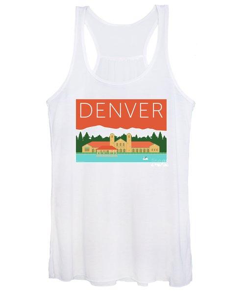 Denver City Park/coral Women's Tank Top