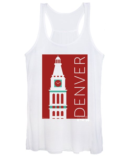 Denver D And F Tower/maroon Women's Tank Top