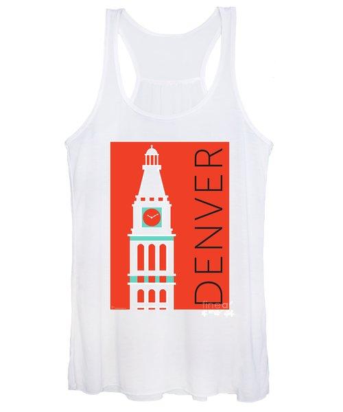 Denver D And F Tower/orange Women's Tank Top