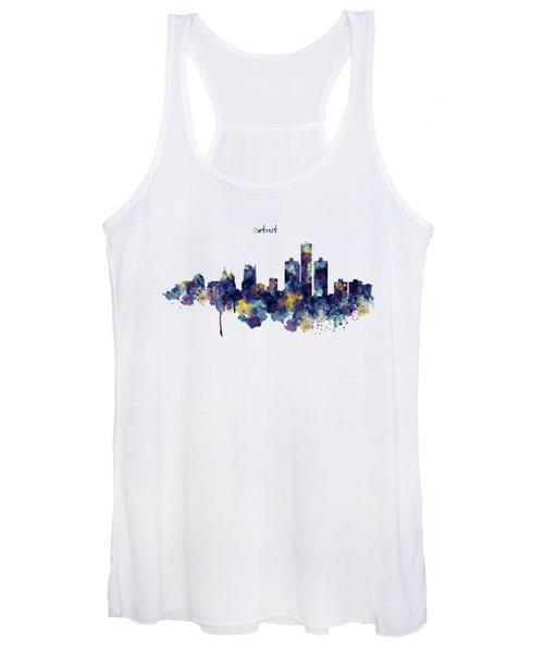 Detroit Skyline Silhouette Women's Tank Top