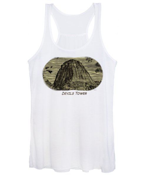 Devils Tower Woodburning 2 Women's Tank Top