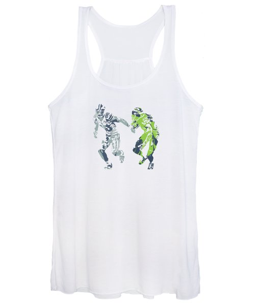 Dez Bryant Richard Sherman Cowboys Seahawks Pixel Art 1 Women's Tank Top
