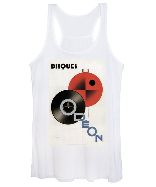 Disques Odeon - Vintage Advertising Poster Women's Tank Top