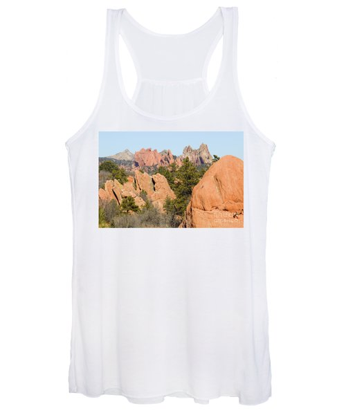 Distant Garden Of The Gods From Red Rock Canyon Women's Tank Top