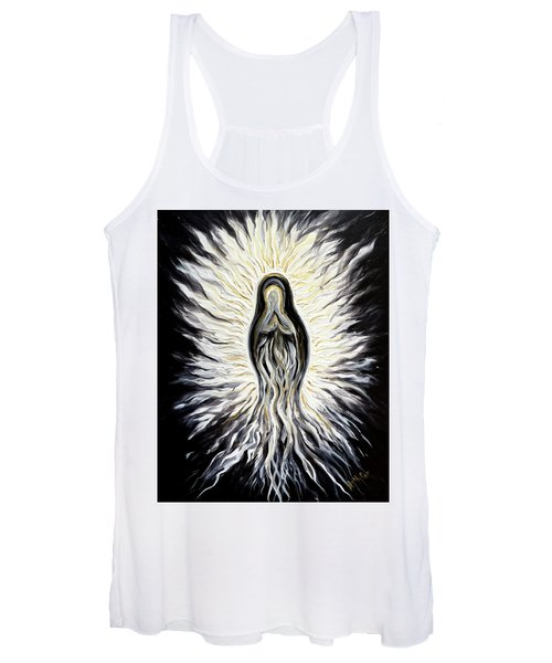Divine Mother Black And White Women's Tank Top