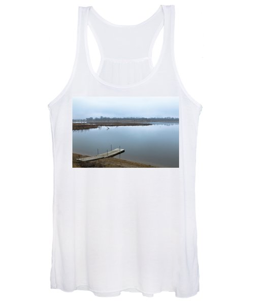 Dock On A Serene Lake Women's Tank Top