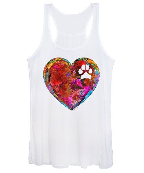 Dog Art - Puppy Love 2 - Sharon Cummings Women's Tank Top