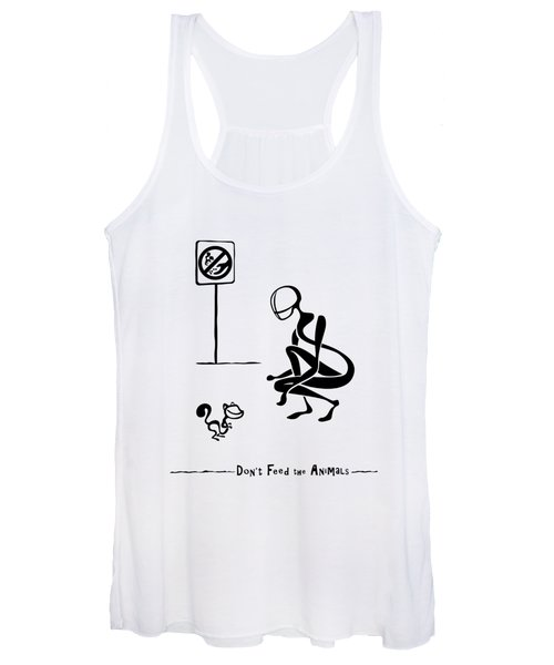 Don't Feed The Animals Women's Tank Top