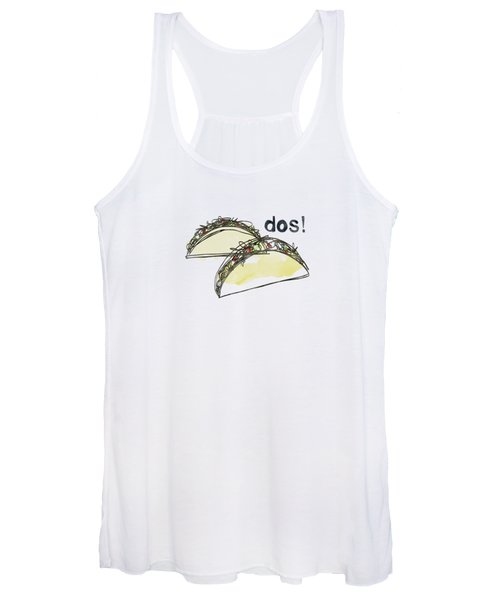 Dos Tacos- Art By Linda Woods Women's Tank Top