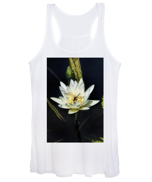 Dragon Fly On Lily Women's Tank Top