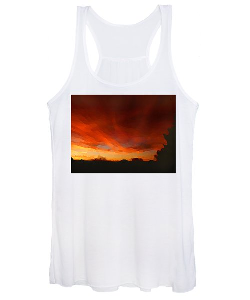 Drama At Sunrise Women's Tank Top