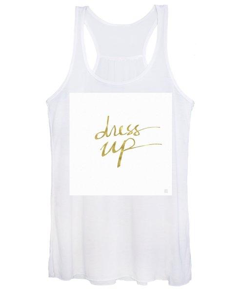 Dress Up Gold- Art By Linda Woods Women's Tank Top