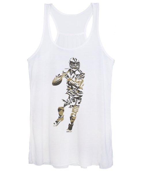 Drew Brees New Orleans Saints Pixel Art T Shirt 1 Women's Tank Top