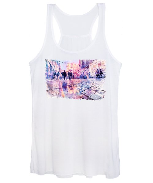 Dublin Watercolor Streetscape Women's Tank Top