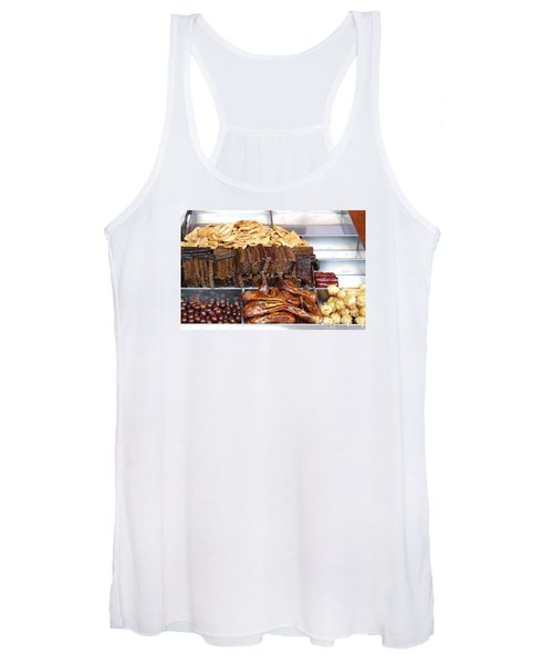 Duck Heads In Soy Sauce And Rice And Blood Cakes Women's Tank Top