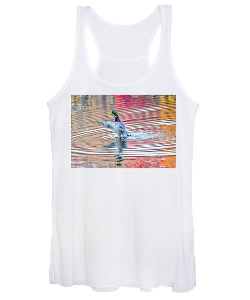 Duck On An Autumn Pond In The Chesapeake Bay Maryland Women's Tank Top
