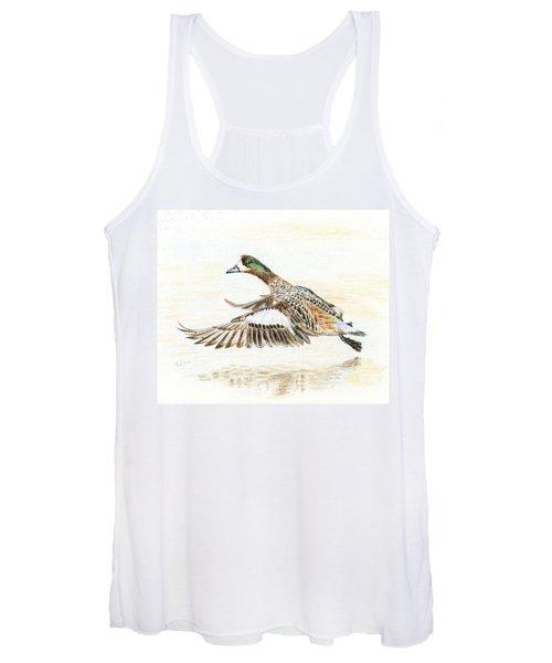 Duck Taking Off. Women's Tank Top