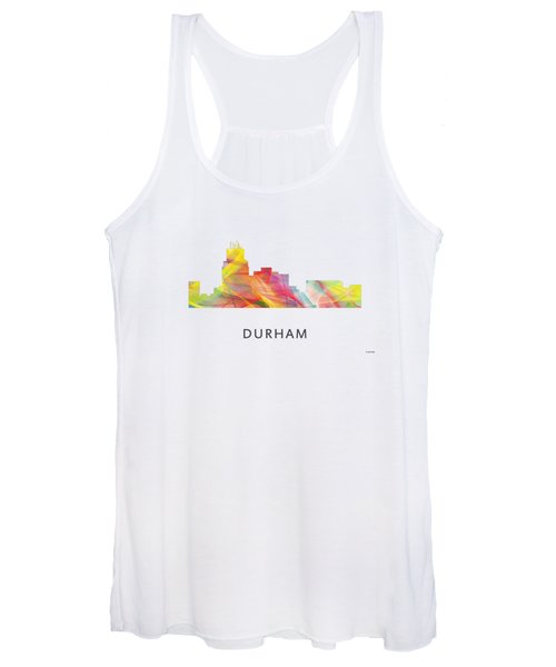 Durham North Carolina Skyline Women's Tank Top