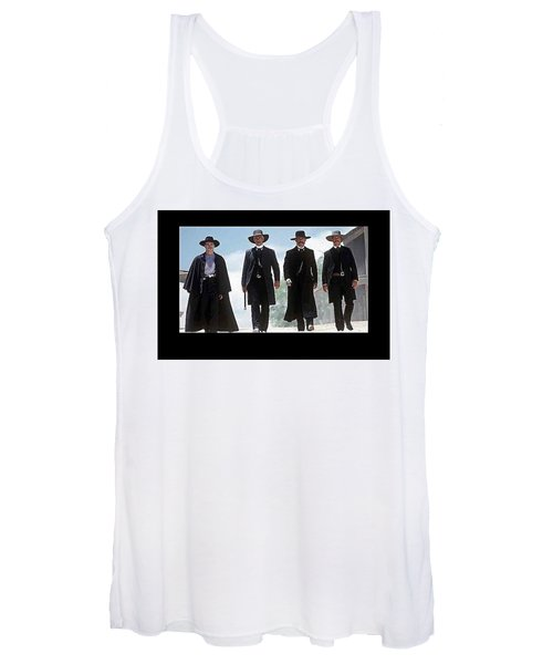 Earp Brothers And Doc Holliday Approaching O.k. Corral Tombstone Movie Mescal Az 1993-2015 Women's Tank Top