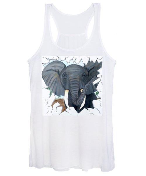 Eavesdropping Elephant Women's Tank Top