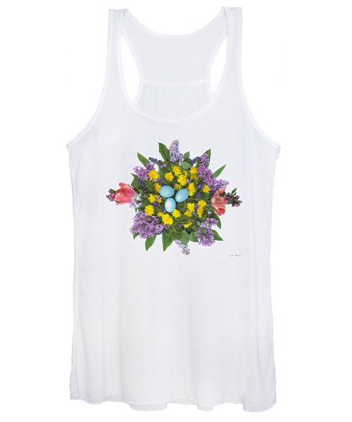 Eggs In Dandelions, Lilacs, Violets And Tulips Women's Tank Top