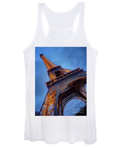 Eiffel Dressed In Gold Women's Tank Top