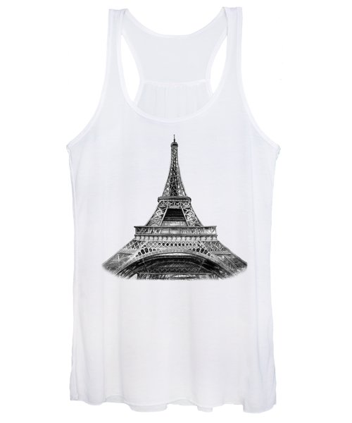 Eiffel Tower Design Women's Tank Top