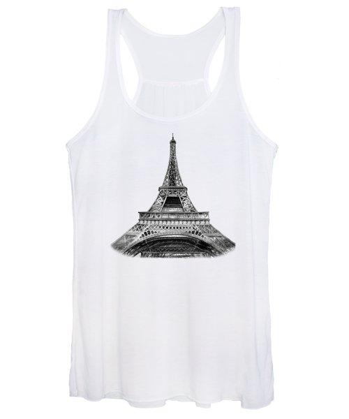 Eiffel Tower Design Women's Tank Top