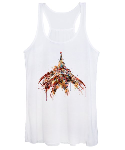 Eiffel Tower Watercolor Women's Tank Top