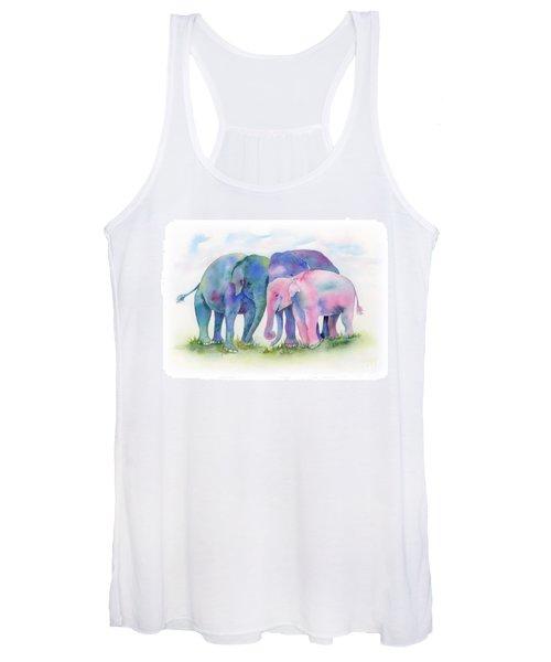 Elephant Hug Women's Tank Top