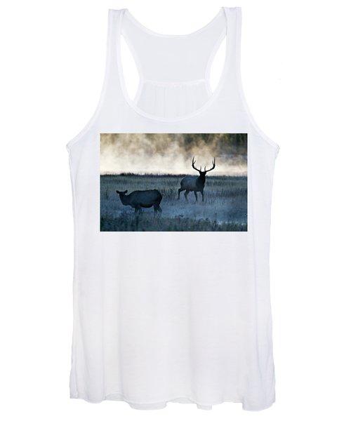 Elk In The Mist Women's Tank Top