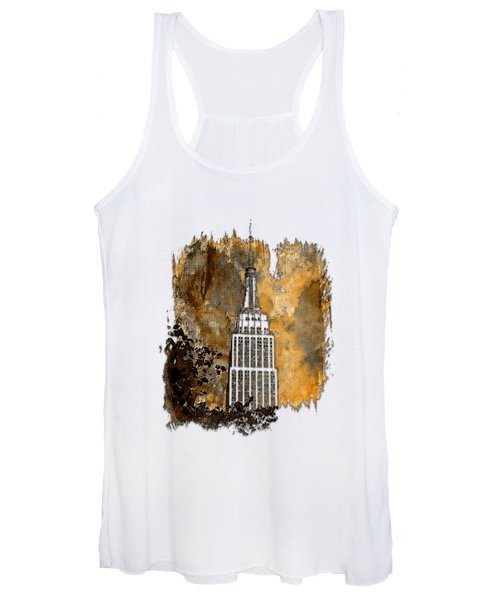 Empire State Of Mind Earthy 3 Dimensional Women's Tank Top