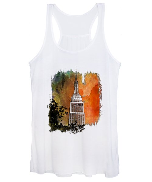 Empire State Of Mind Earthy Rainbow 3 Dimensional Women's Tank Top