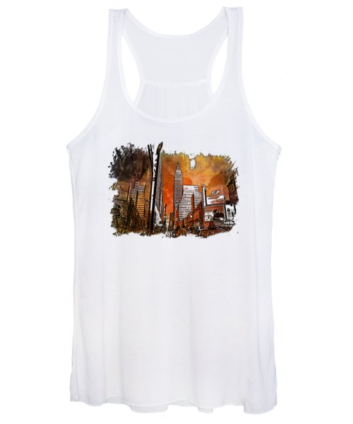Empire State Reflections Earthy Rainbow 3 Dimensional Women's Tank Top