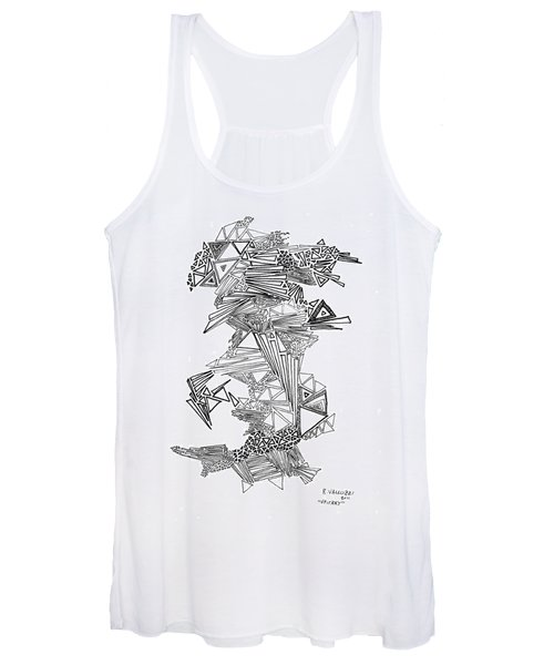 Epitaxy Ink Drawing By Regina Valluzzi Women's Tank Top