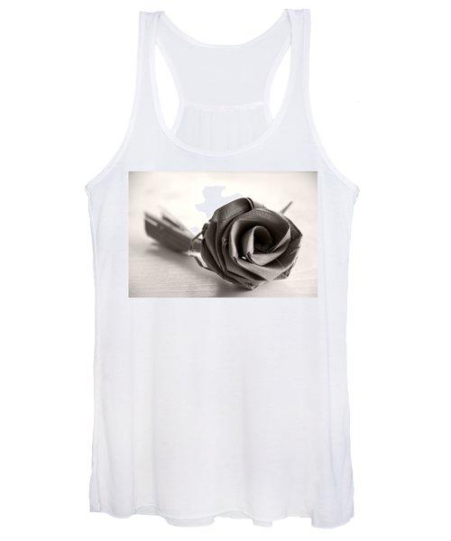 Eternal Rose In Sepia Women's Tank Top