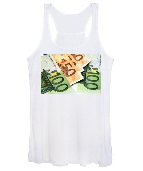Euro Banknotes Women's Tank Top