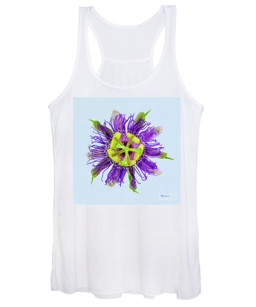 Expressive Yellow Green And Violet Passion Flower 50674b Women's Tank Top